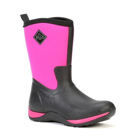 Women's Arctic Weekend Mid-Calf Black/Pink Muck Boots