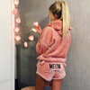 Meow Hoodie And Short Set