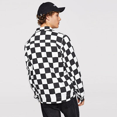 #checked Jacket-Men's Jackets & Outerwear-📸 #CrayeLabel-Black-2XL-CrayeLabel.com
