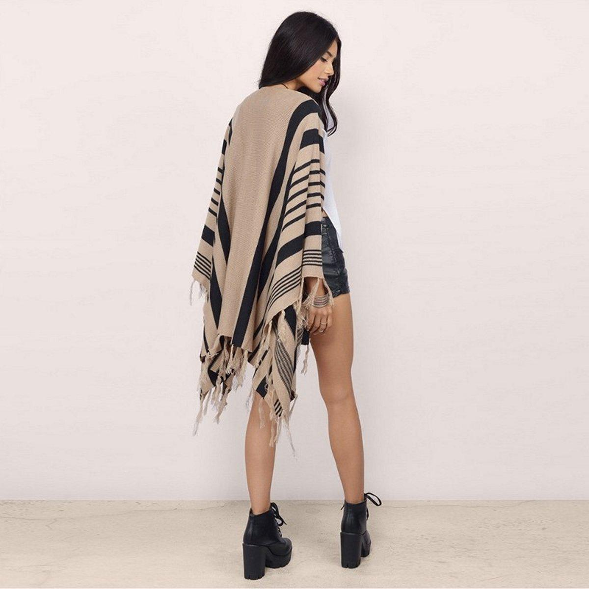 Knitted Stripes Cardigan