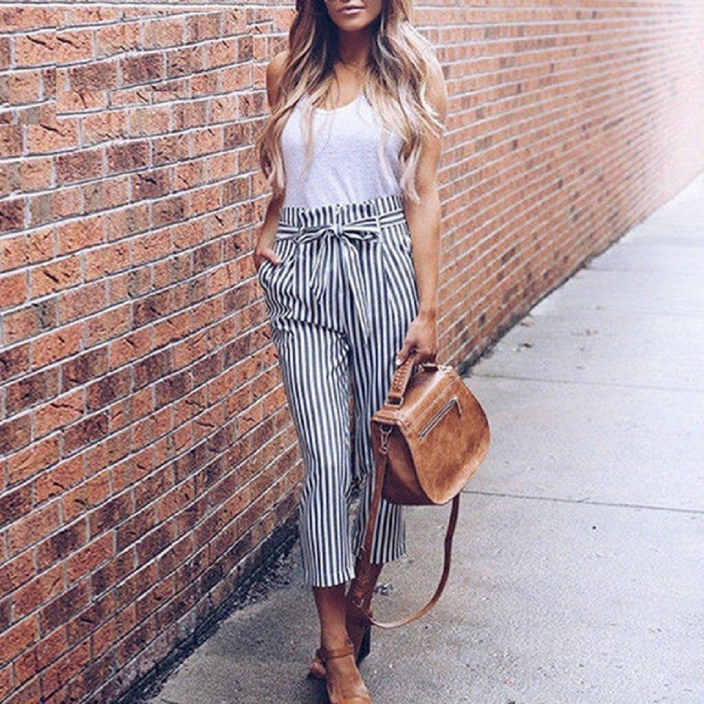 Stripe Cropped Pants