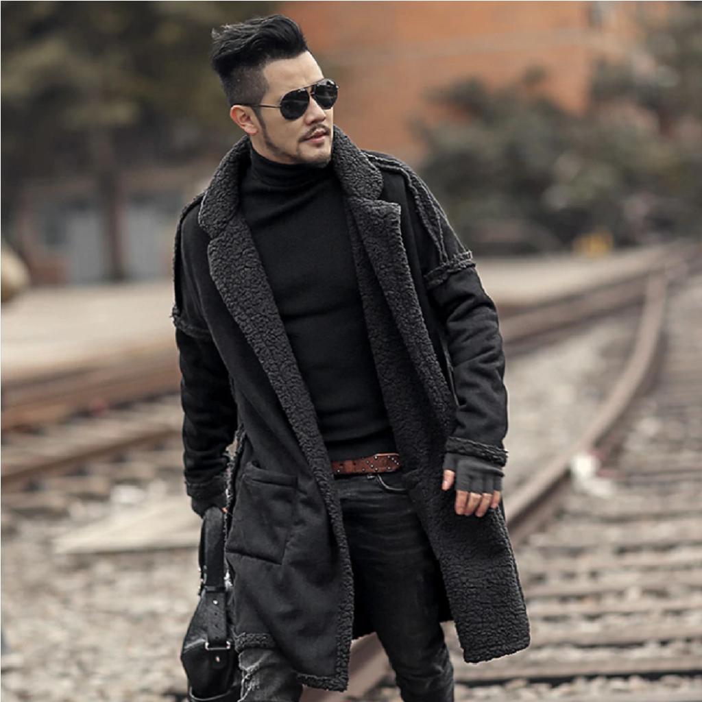 Sherpa Lining Long Overcoat