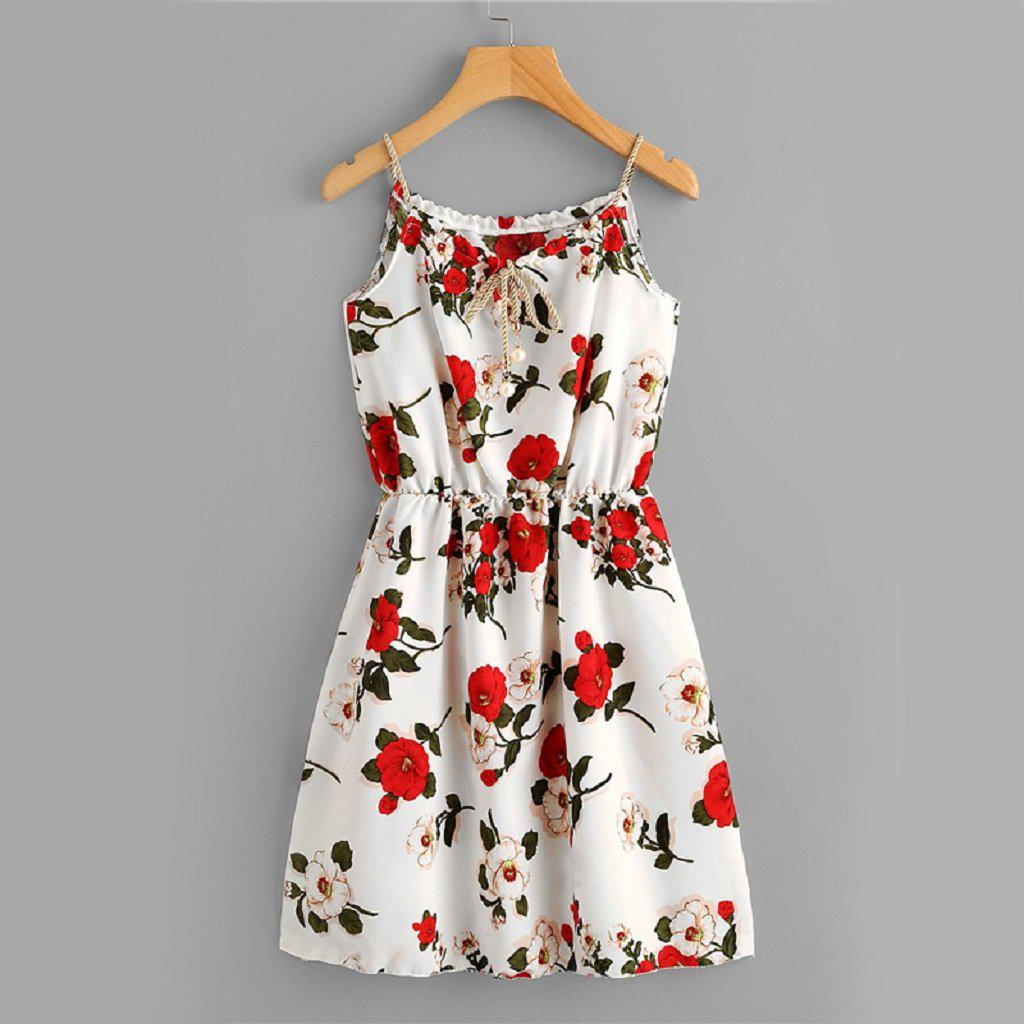 Cute Floral Love Midi Dress