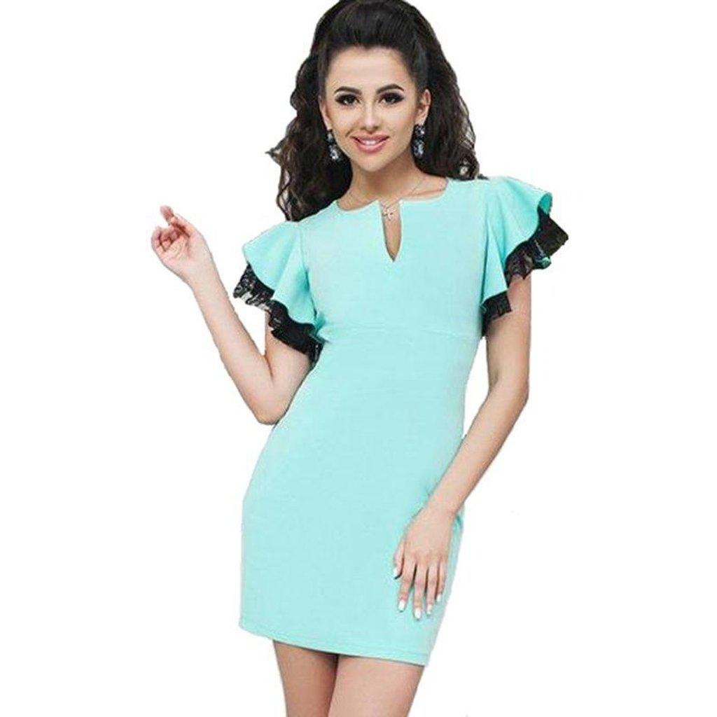 #bluebutterfly Mini Dress-Women's Mini Dresses-📸 #CrayeLabel-CrayeLabel.com