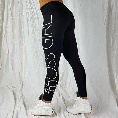 #bossgirl Leggings-Women's Leggings-📸 #CrayeLabel-Black-M-CrayeLabel.com