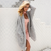Long Attractive Knitted Cardigan