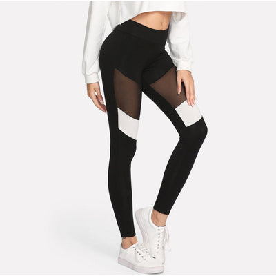 #contrastmesh Leggings-Women's Leggings-📸 #CrayeLabel-CrayeLabel.com
