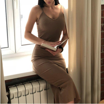 #elegant Knee Length Dress-Women's Dresses-📸 #CrayeLabel-CrayeLabel.com