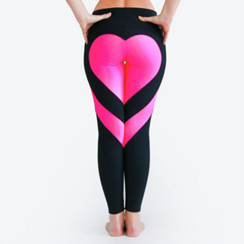 #heart Leggings-Women's Leggings-📸 #CrayeLabel-Black-XS-CrayeLabel.com