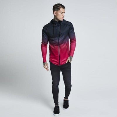 Color Hue Hood Track Jacket