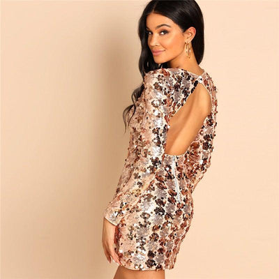 Daisy Sequins Mini Dress