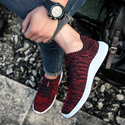 #summer Running Shoes-Men's Shoe-📸 #CrayeLabel-Crimson Red-6.5-CrayeLabel.com