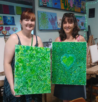 Photos: Guided Meditation & Painting Event with Red Pearl Yoga