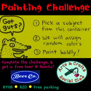 Introducing the Painting Challenge: a fun-as-hell Art Game for adults!