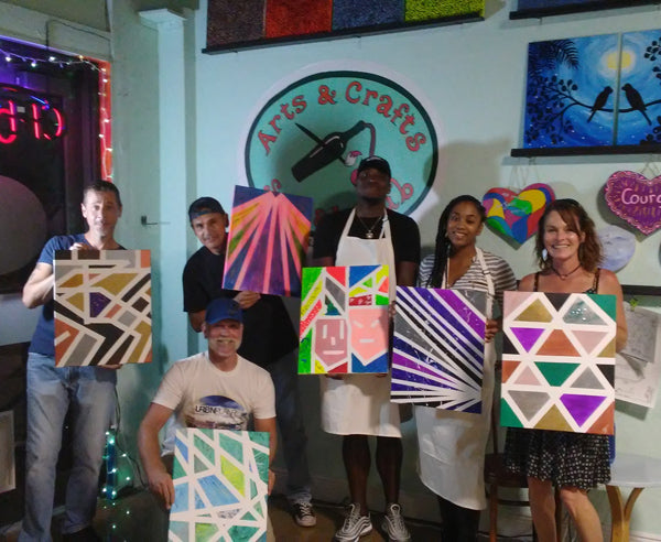 Photos: abstract paintings with Fort Lauderdale friends!