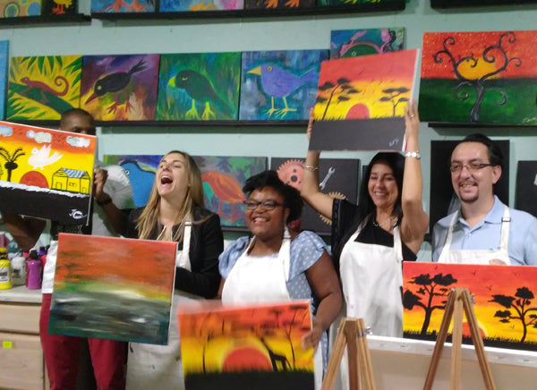 Successful Painting Party Fundraiser