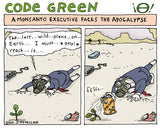 """Code Green"" - editorial cartoons by Stephanie McMillan"
