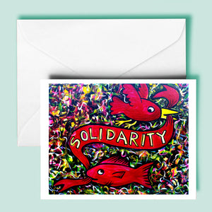 Solidarity / Fish & Bird (blank inside)