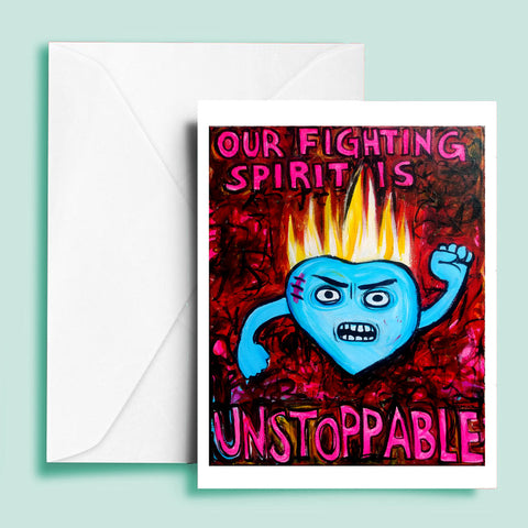 Our Fighting Spirit is Unstoppable (blank inside)