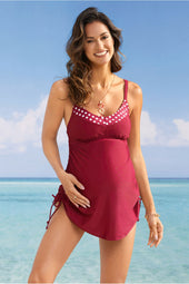 Rojo Tank Top Maternity Swimsuit with Panty