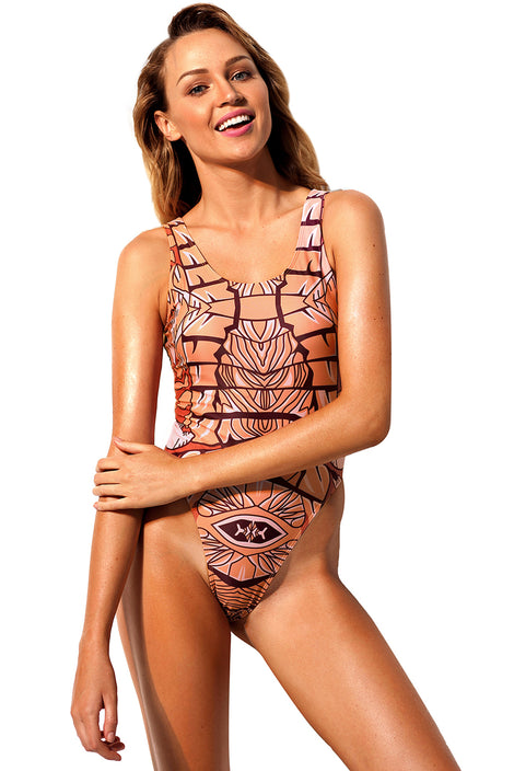 African Print Maillot Ethnic One Piece Swimsuits