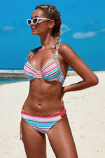 Sweet Candy Cane Two Piece Bikini Swimsuit