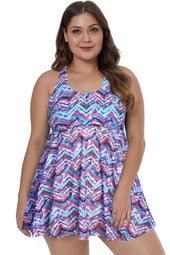 Purple Plus Talla Swim Dress