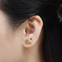 Bill Skinner Swallow Floral Stud Earrings