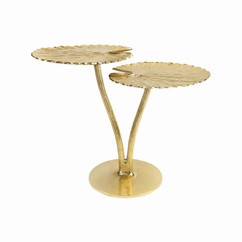 Double Water Lily Leaf Gold Table