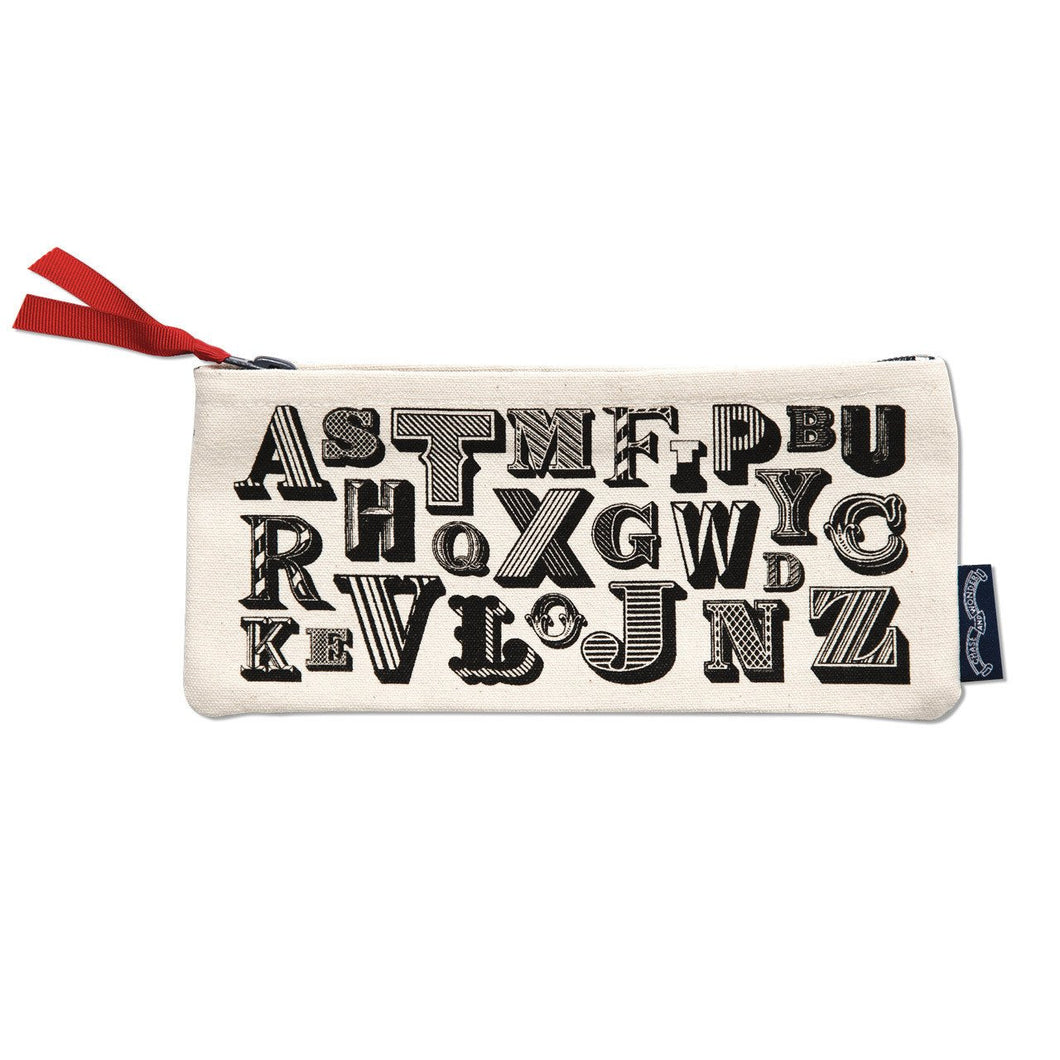 Chase and Wonder Alphabet Print Pencil Case Chase and Wonder - The Voewood