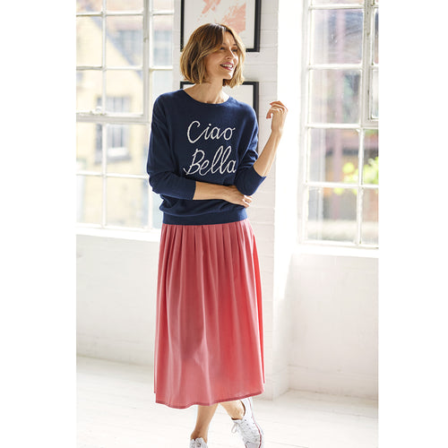 Pink Angela Pleated Skirt