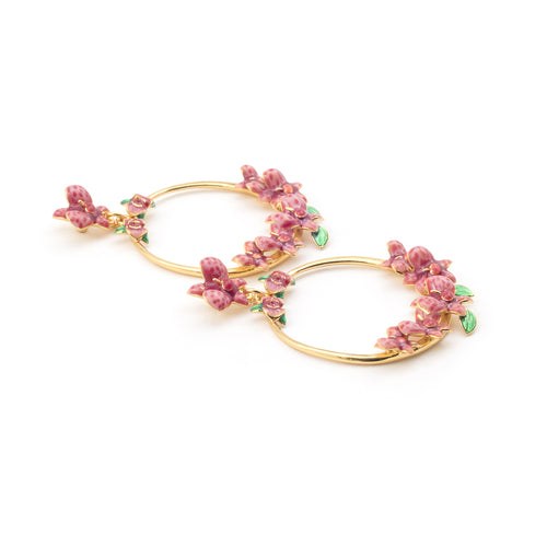 Bill Skinner Orchid Statement Hoops