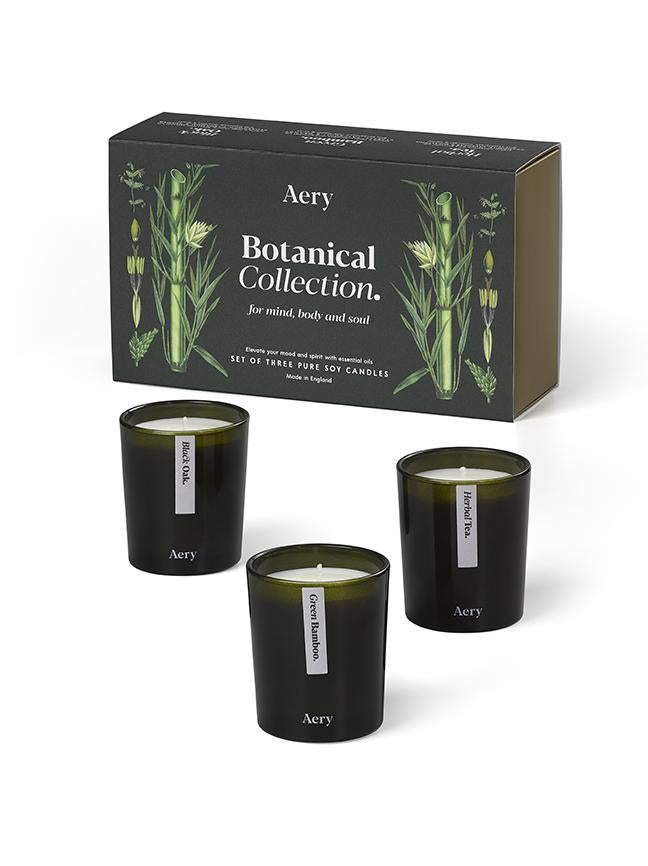 Green Botanical Candle Trio - Gift Set