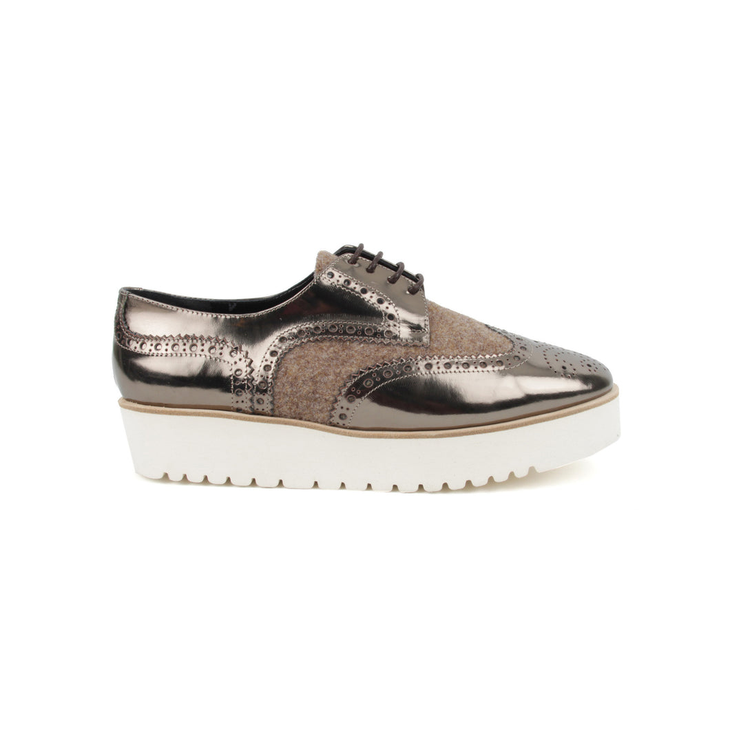 Flatform Metallic Brogue by Lolo Ballerina at The Voewood Lolo The Ballerina - The Voewood