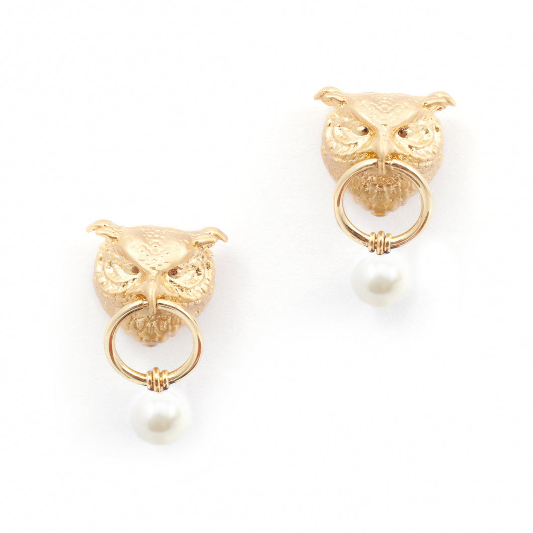 Bill Skinner Owl Drop Earrings