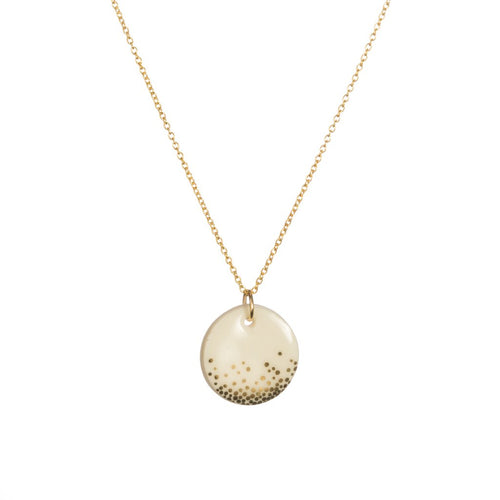 Porcelain Gold Mist Necklace The Voewood - The Voewood