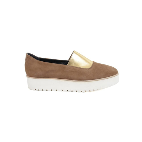 Beige loafer with platform sole LoLo - The Voewood
