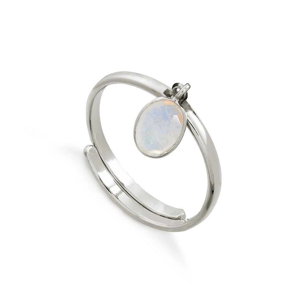SVP Rainbow Moonstone Rio Sterling Silver Adjustable Ring
