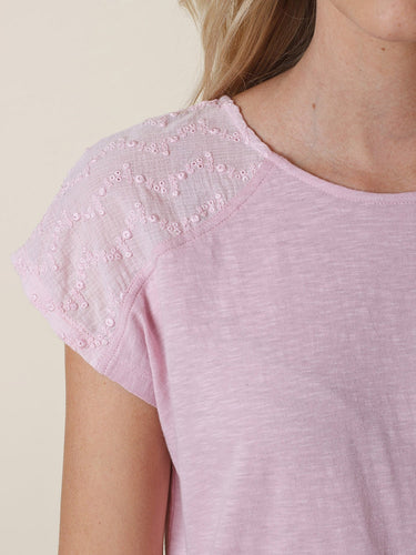Lilac Embroidered T-Shirt