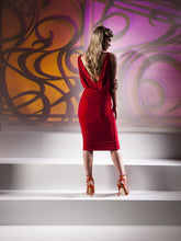Kevan Jon Harlow Knee Dress In Fuchsia