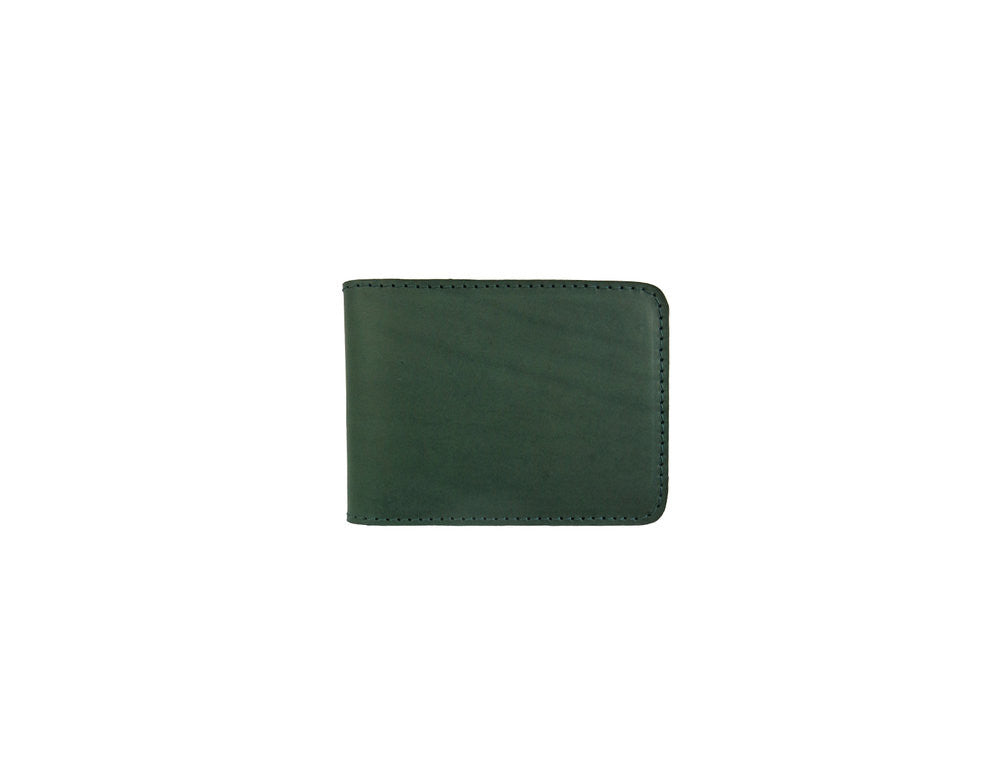 Forest Green Leather Fold Wallet