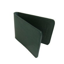 Forest Green Leather Fold Wallet The Voewood - The Voewood