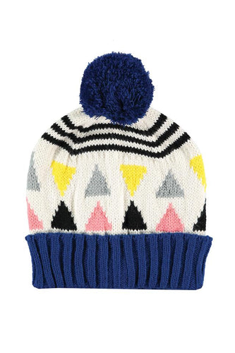 Miss PomPom Triangle Cream Beanie Miss PomPom - The Voewood