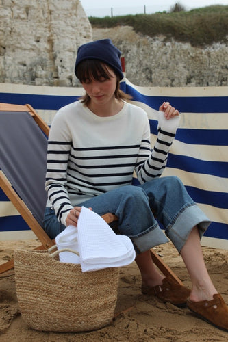 Jane Jumper | Ecru/Navy