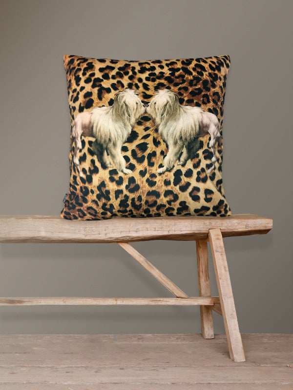 Tiger Dog Velvet Cushion
