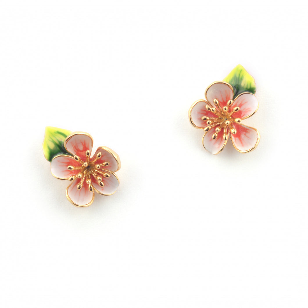 Apple Blossom Stud Earrings