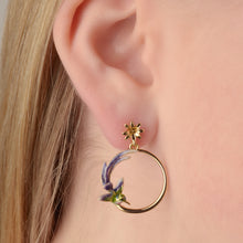 Bird of Paradise Round Earring