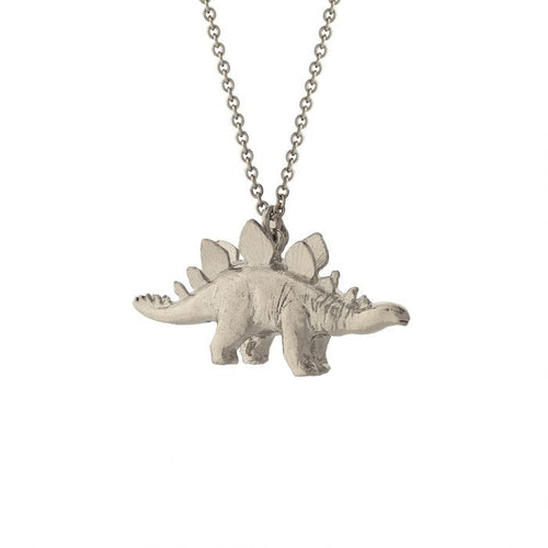 Stegosaurus Necklace - Silver
