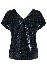 Midnight Sequinned Top