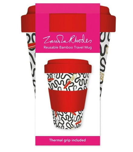 Zandra Rhodes - Reusable Bamboo Travel Coffee Cup